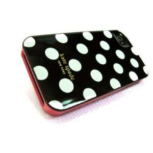 Spade Hard iphone case cover Black with White polka Dot iphone 4 4G 4S