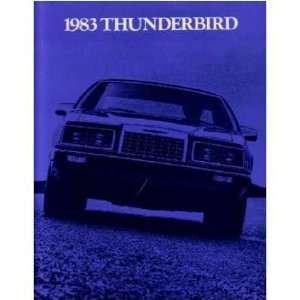 1983 FORD THUNDERBIRD Sales Brochure Literature Book Automotive