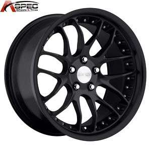 MRR GT7 18X8.5 5X120 +35 MATT BLACK RIMS WHEELS BMW