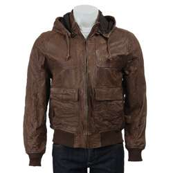 Levis Division E Mens Leather Hooded Jacket