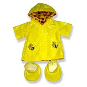 Yellow Rain Coat and Boots Outfit Teddy Bear Clothes Fit