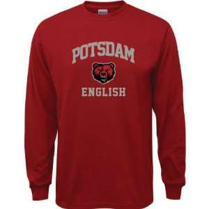 SUNY Potsdam Bears Cardinal Red Youth English Arch Long