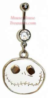 DISNEY JACK SKELLINGTON LARGE HEAD DANGLE BELLY RING