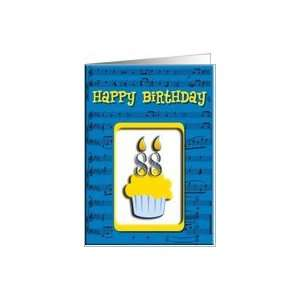 88th Birthday Cupcake, Happy Birthday Card Toys & Games