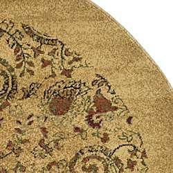 Collection Paisley Beige/ Multi Rug (8 Round)