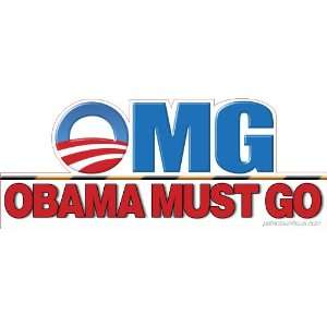 OMG Obama Must Go Die Cut Removable Vinyl Sticker (2