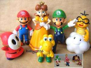 12 pcs Nintendo Super Mario Bros Action Figure