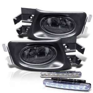 Smoked Fog Lights+switch+bulbs+harness + 8 LED Bumper Fog Automotive