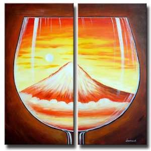 Glass Mountain Painted Canvas Art Oil Painting
