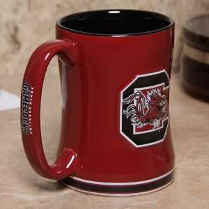 South Carolina Gamecocks Garnet 15oz. Ceramic Relief Mug