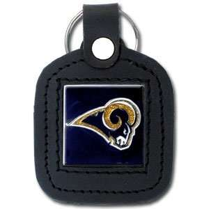 St. Louis Rams NFL Square Leather Key Ring Sports