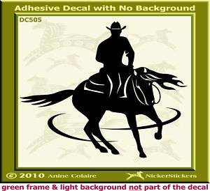 Spinning Reining Horse Trailer Window Decal Sticker 505