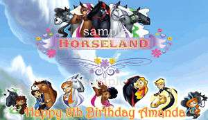 SHEET HORSELAND Edible CAKE Image Icing Topper