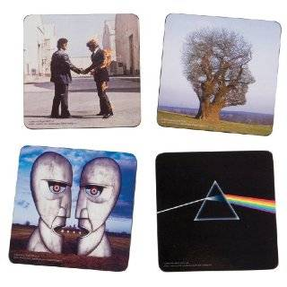 Vandor 36123 Pink Floyd 4 Piece Wood Coaster Set, Multicolored