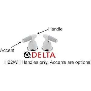 Delta Faucet H22WH Two Metal Lever Handle Kit, White