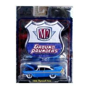 Pounders 1958 Plymouth Fury 164 Scale Diecast Car Toys & Games