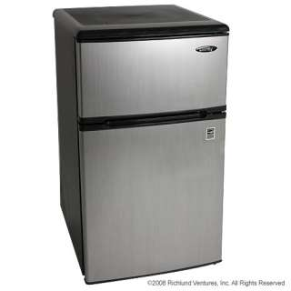 New Danby Compact Refrigerator Freezer Freestanding Fridge, Stainless