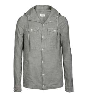 Chambray Sum Hooded Shirt, Men, Shirts, AllSaints Spitalfields