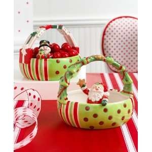 Fitz and Floyd Merry Christmas Santa Basket