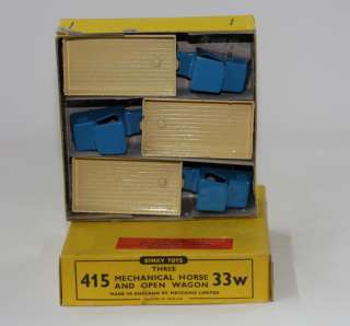 DINKY TOYS 33W 415 MECHANICAL HORSE & TRAILER TRADE BOX OF 3