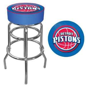 Detroit Pistons NBA Padded Swivel Bar Stool   Game Room Products Pub
