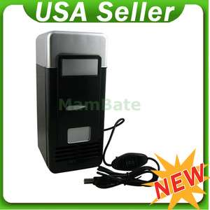 Mini USB LED PC Refrigerator Fridge Beverage Drink Cans Cooler Warmer