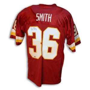 Timmy Smith Signed Redskins Red Throwback Jersey