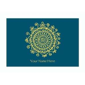 Personalized Stationery Note Cards with Medallion