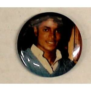 Michael Jackson Blue Shirt 1 Vintage Button