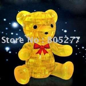 puzzle children jigsaw kids toy teddy bear shape Toys & Games