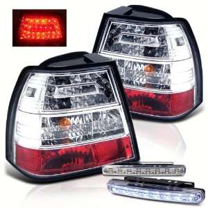 Eautolight 99 04 Volkswagen Jetta LED Tail Lights+led Bumper Fog Brand
