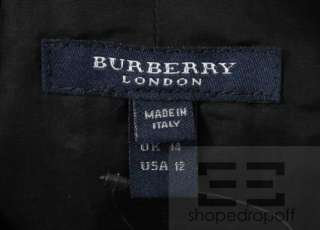 Burberry London Black Cotton Sleeveless Belted Trench Dress Size US 12