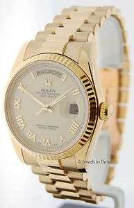 Rolex Mens Day Date President 118238 K 18k Yellow Gold JEWELS IN TIME