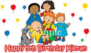SHEET CAILLOU Edible CAKE Image Icing Sheet Topper