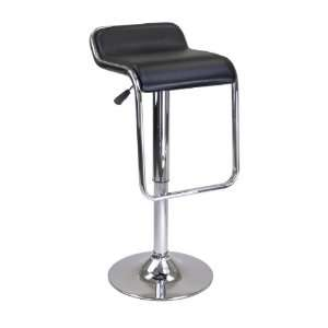 Oslo Air Lift Stool, Backless Chrome Frame Footrest
