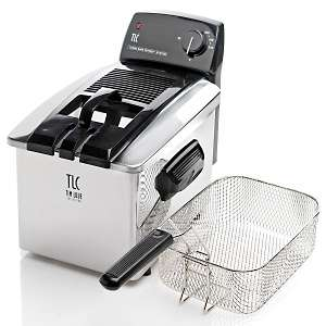 Tim Love Collection 3 1/2 Liter Stainless Steel Deep Fryer