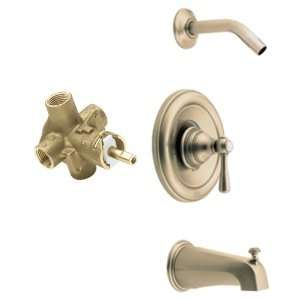 Kingsley Posi Temp Tub and Shower Trim Kit with Valve, Antique Bronze