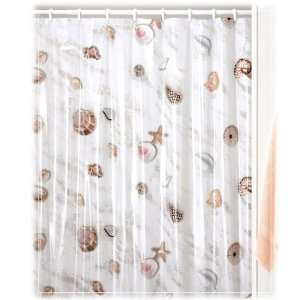 Sea Shells Vinyl Shower Curtain