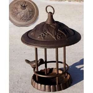 Cast iron gazebo bird bath feeder 70740 birdbath Patio, Lawn & Garden
