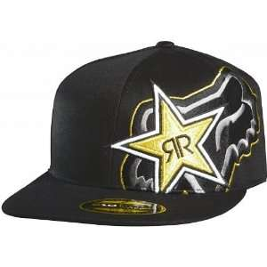 Fox Racing Rockstar Star to Finish Flexfit Hat Black XS/S Automotive