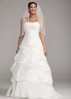 Davids Bridal Wedding Dress Strapless Taffeta Gown with