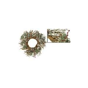 Rustic Antlers Artificial Christmas Wreath with Berri