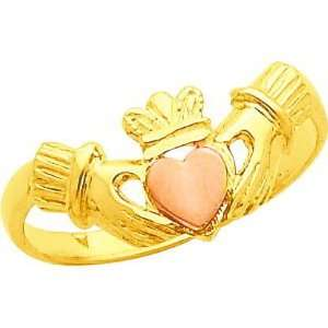 14K Two Tone Gold Claddagh Ring Sz 6 Jewelry