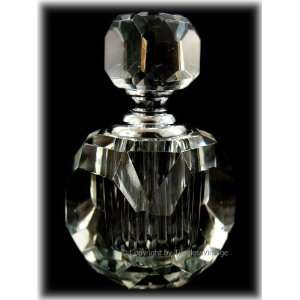 Art Deco Square Cut Crystal Perfume Bottle in Gift box