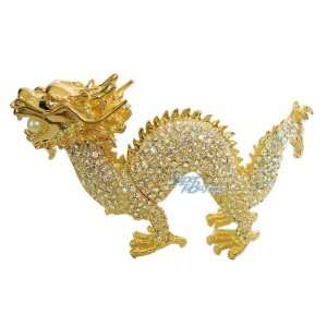 Pearl Dragon   Jewelry Trinket Box Swarovski Crystal