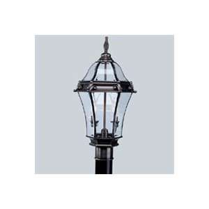2622   Fleur de Lis Two Light Exterior Post Light