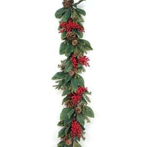 , Pine, and Pine Cone Christmas Garlands 5   Unlit