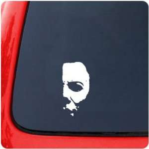 Myers Half Mask Decal Sticker Movie Halloween Horror