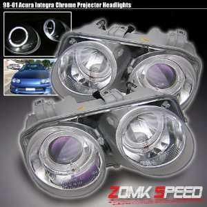 ACURA INTEGRA 98 01 CHROME PROJECTOR HEAD LIGHTS Automotive