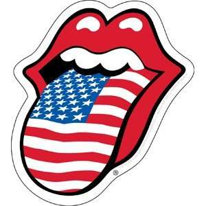 THE ROLLING STONES USA TONGUE STICKER